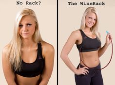 """VALENTINES DAY IS COMING SOON LADIES...""""WineRack"""" is a Comfortable sports bra comes equipped with hidden container that can hold 750 ml of your favorite alcoholic beverage."""