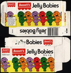 .UK - Bassett's - Jelly Babies candy box - 1970's  I remember buying these at the pictures