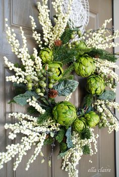 {Ella Claire}: A New Winter Wreath for Our Door