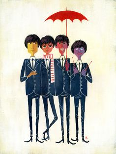 The Beatles! by Brigette B (via Illustrated Gents)