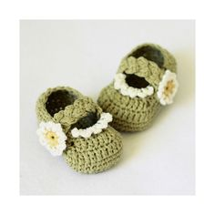 Ravelry. Daisy Braided Strap Booties by mon petit violon.