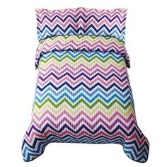 Ziggy Zaggy Bedding  (Zig Zag Bedding, Chevron Pattern Bedding)  Fun zig zag stripes in a rainbow of colors are  sure to kick up the fun in any bedroom. This  pattern is easy care and a great value!    Bright color zig zag (chevron patterned) bedding!