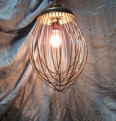 Industrial whisk lighting upcycled pendant light by UpReNew, $329.95