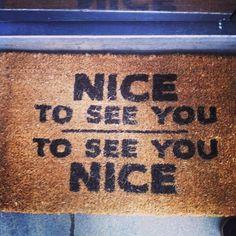 Front door mat.
