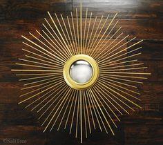 Convex sunburst mirror. DIY all the way.