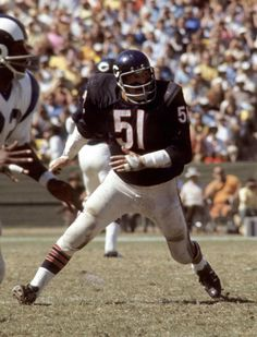 Dick Butkus was one of the most-feared and hard-nosed players in the NFL, though his career (1965-1973) was cut short because of a knee injuries. (National Football League)