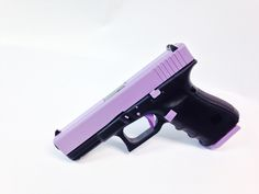 """A new variation on our Lilac Lady, this Glock 19 Gen4 has been equipped with a classy, yet """"means business"""" look!  When Hot Pink, and Passion Purple just won't work...reach for the Lady Lilac!!  Come see us at www.tzarmory.com"""