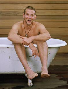 Bradley in a tub....hotty!!!