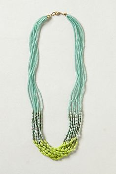 resin lagoon layered necklace / anthropologie