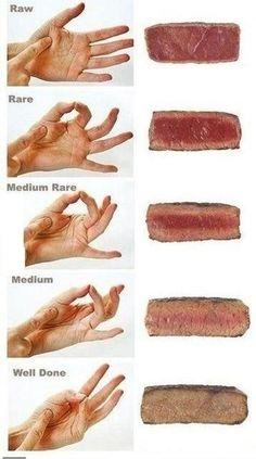 Steak tenderness test...