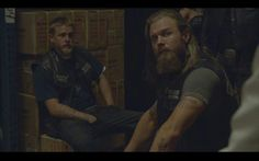 Opie Winston and Jax Teller (Ryan Hurst and Charlie Hunnam) season 4 SOA