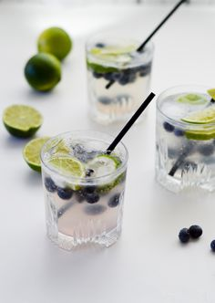 elderflower blueberry lime cocktail