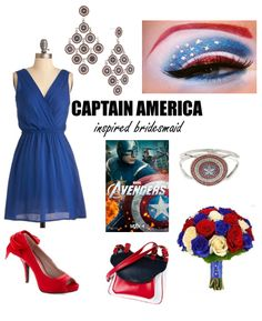 Captain America Bridesmaid | When Geeks Wed omg wouldnt the avengers be cool bridesmaids and groomsmen!