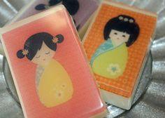 Kokeshi Japanese Doll Glycerin Soap
