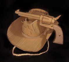 Cardboard sheriff hat