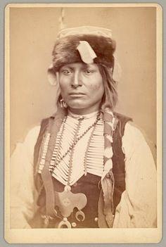 Tau-ankia-Tibone (aka Sitting In The Saddle) the son of Lone Wolf - Kiowa - circa 1867