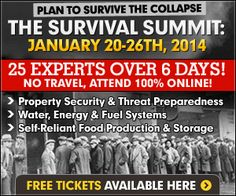 FREE 6 Day Online Conference on Survival and Preparedness