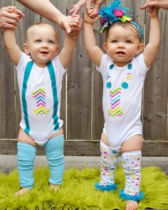 Boy Girl twin birthday outfit boy girl twin by MendingLifeTogether, $45.00