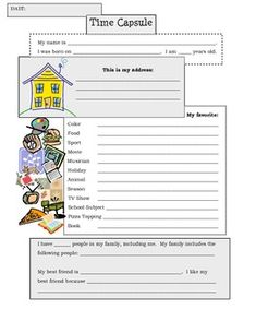 This was a classic first day of school activity for my students. Students would fill this out and then I would tuck it away in their end of the ye...