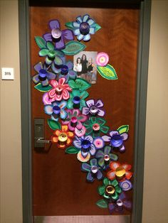 This door decoration is awesome! You can get creative and make a colorful collage for your room at UWO!