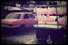 All pinkness. Cabs and Candy. This is Saida - Lebanon