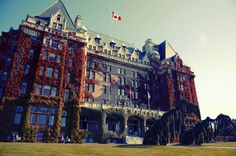 The Fairmont Empress is stunning in fall when the ivy turns a deep red.