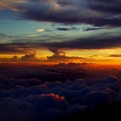 sunset from Mount Kinabalu