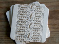 cable knit coasters by red bird ink