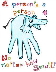 Hand print Horton - Dr. Seuss Craft | This Girls Life Blog