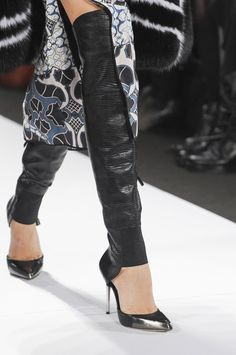 The Trendiest Women's Boots Of Fall-Winter 2013-2014  -  Boots that Look Like Shoes with Long Leather Leg Warmers