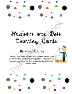 Numbers and Dots Counting Cards helps students build number sense and one to one correspondence.