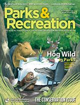 October Issue of Parks & Recreation Magazine. Feature story: Hog Wild in Parks