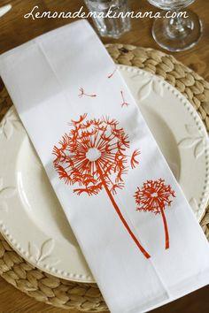 love these dandelion napkins!