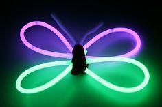 glow stick butterflies
