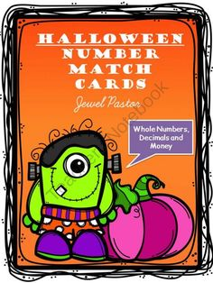 HALLOWEEN NUMBER MATCH CARDS from Jewel Pastor on TeachersNotebook.com -  (54 pages)  - Need a quick activity for early finishers?  Print, cut, and laminate these cards to play a Halloween-themed matching game.   Just match the numbers with their names.