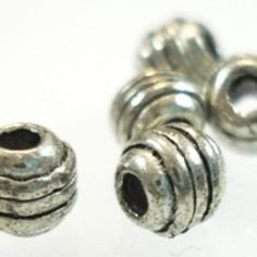 Small Silver Round Metal Beads - 10 - Spoil Me Silly Jewellery