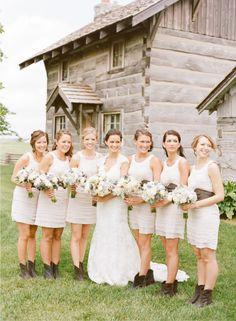 cowboy boot bridesmaids