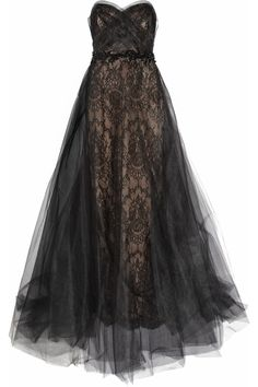 fashion, cloth, style, lace gown, dream, gowns, dresses, tulle, black