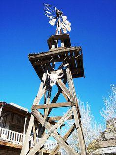 Old windmill at Wyatt Earp's Old Tombstone