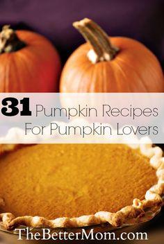 31 Pumpkin Recipes For Pumpkin Lovers