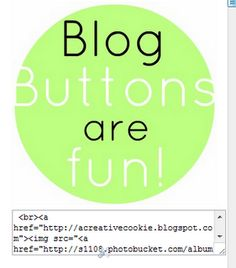 Creating blog buttons