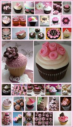 more pink and brown cupcakes