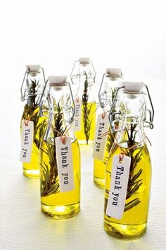 DIY Olive Oil Party Favors.
