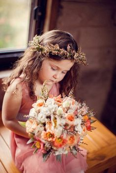 rustic little flower girl