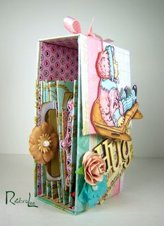 CARD-D-OLOGY: Strawberry and Chocolate Mint - Vertical Toilet Paper Mini Album