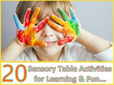 20 Educational and FUN Sensory Table Activities for Kids! Some of these are so cute