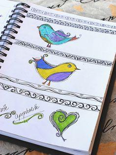 Art Journal - Zenspirations Birds