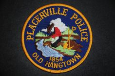 Placerville Police Patch, El Dorado County, California