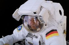 ESA astronaut Thomas Reiter, Expedition 13 Flight Engineer, during a 5-hour, 54-minute spacewalk, which he shared with NASA astronaut Jeff Williams. For part of the spacewalk, the pair worked in tandem, and then worked separately, getting ahead of their timeline, allowing them to work on extra tasks. (NASA)