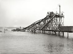 It's a water slide...into Lake Erie...circa 1904. Do you think your #ancestors were brave enough to try it out?